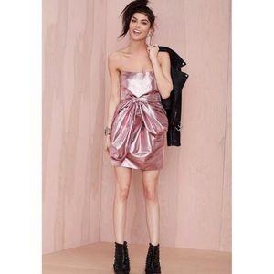 NWT Nasty Gal Pinnacle Pink Prom Dress Size XXS